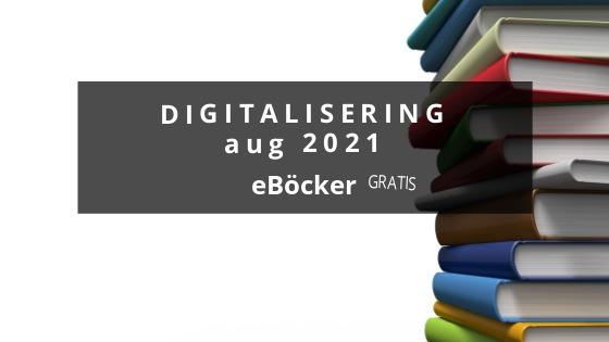 Digitalisering eBöcker – aug 2021